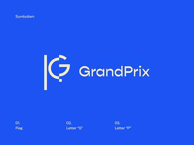 Flag + G letter p prix grand grandprix icon logo flag flag icon g icon letter g p g