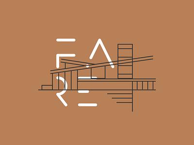 Fare Studio house icon outline linhas type minimalist design fare brand house logo line home house lineart arquitetura architechture