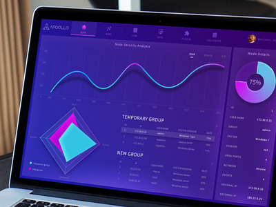 Dashboard Data visualization interface design