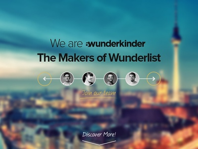 6Wunderkinder - Landing Page landing page landing berlin team vc todolist todo wunderlist 6wunderkinder