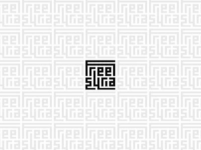 Free Syria logo logomark brand free syria freesyria graphic experimentation arabic geometric typography