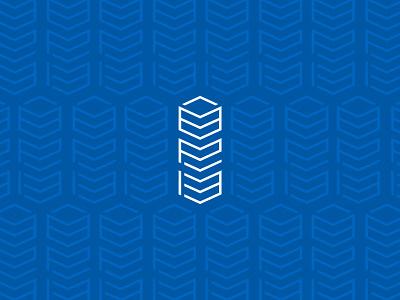 Blueprint Properties Inc. Logotype logo logomark design branding graphic canada blueprint geometric initials symmetry construction