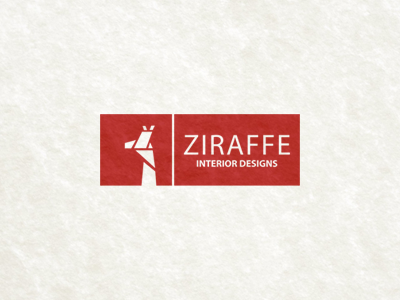 Ziraffe Interior Designs abstract logo logomark ziraffe interior designs giraffe cubic modern