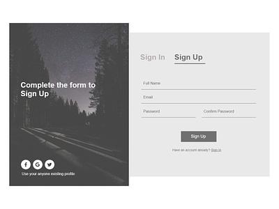 Sign Up signupform xd dailyui 001