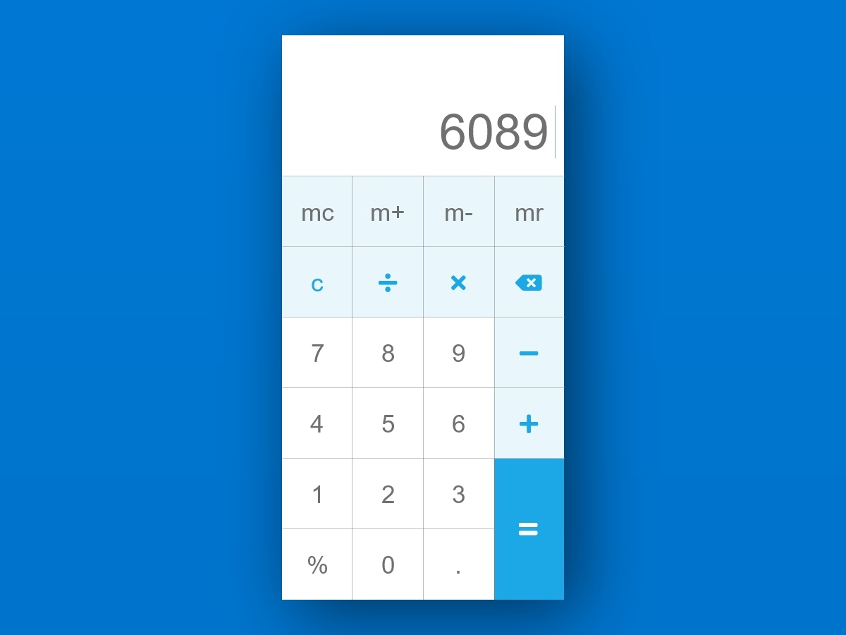 Calculator dailui xd calculator ui daily 100 challenge