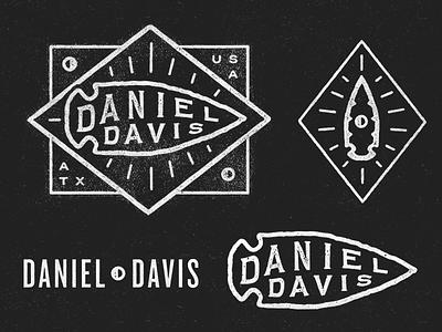 Daniel Davis secondary lockup identity mark photography arrowhead daniel davis