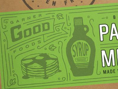 WIP Garner Labels packaging illustration pancake gluten free