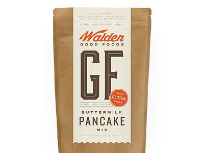 Killed direction packaging pancake gluten free label kraft