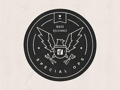 MR Special Ops badge eagle seal circle black star