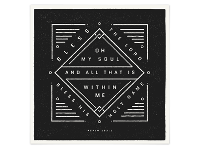 Psalm 103:2 verse poster psalm screen print bible