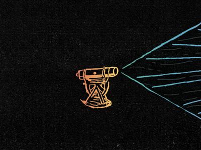 The Reveille Vol 2 theodolite album artwork gradient light