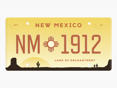 State Plates Project - New Mexico license plate state plates project new mexico desert