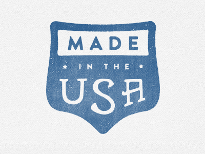 Made In The USA badge usa america freedom stars blue