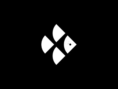 TT Monogram — Fish bauhaus simple circle geometry minimalist monogram seafood fish brand identity design logomark branding logo icon