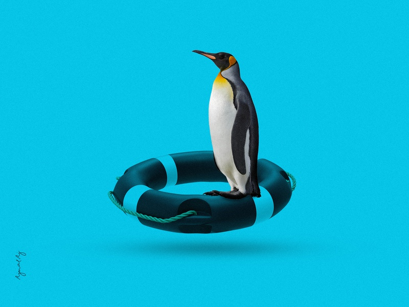 Global-Warning ajmalaj agency life fact propaganda visualizer advertising branding thoughts posters designers alert earth planet penguin antarctica life ring global warming