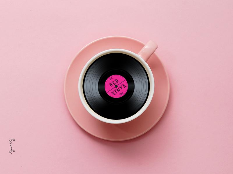 A cup of Music! ajmalaj conceptual creative  design uidesign branding graphicdesigner coffeemusic designers vintage recorder music coffee