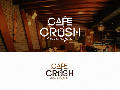 Cafe Crush Lounge Logo Design