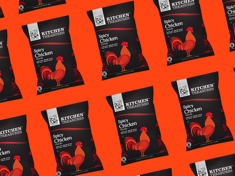 Re-brand package design for Kitchen Treasures vector illustration graphicdesigner packaging chicken packagedesign behancce dribbble designer concept designers branding