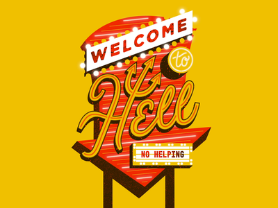 NO HELPING vegas neon hell after effects animation typography type