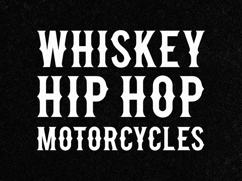 American Tuscan tuscan america motorcycles hop hip whiskey free download font typography type