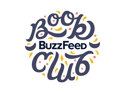 Buzzfeed Book Club filigree typography type book club ligature script logo