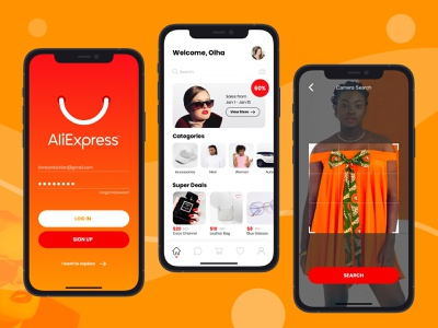 AliExpress App Redesign challenge uxui research ux design uxdesign b2c onlineshopping shopping ios inspiration redesign app aliexpress ui ux modern digital design concept product