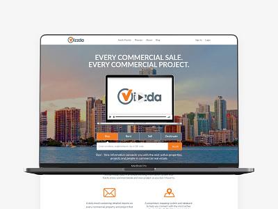 Vizzda Website white orange flat minimalism interface ui  ux website builder webdesign website real estate estate modern digital product design concept