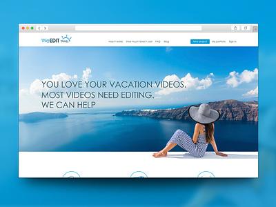 WeEdit Website inpiration white video minimalism blue interface digital product concept desgin website webdesig ux  ui ux webdesign