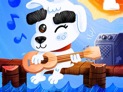 Animal Crossing - KK Slider videogame cartoon nintendo procreate texture illustration kk slider animal crossing