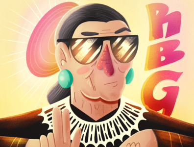 RBG print procreate texture cartoon illustration