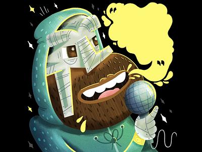 MF Doom cartoon greatest of all time hiphop texture illustration ripmfdoom mfdoom