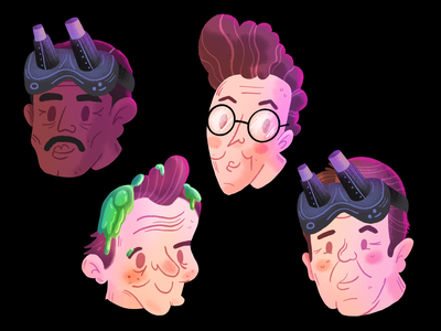 Ghostbuster Busts