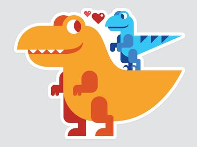 Best of Friends: T-Rex & Blue