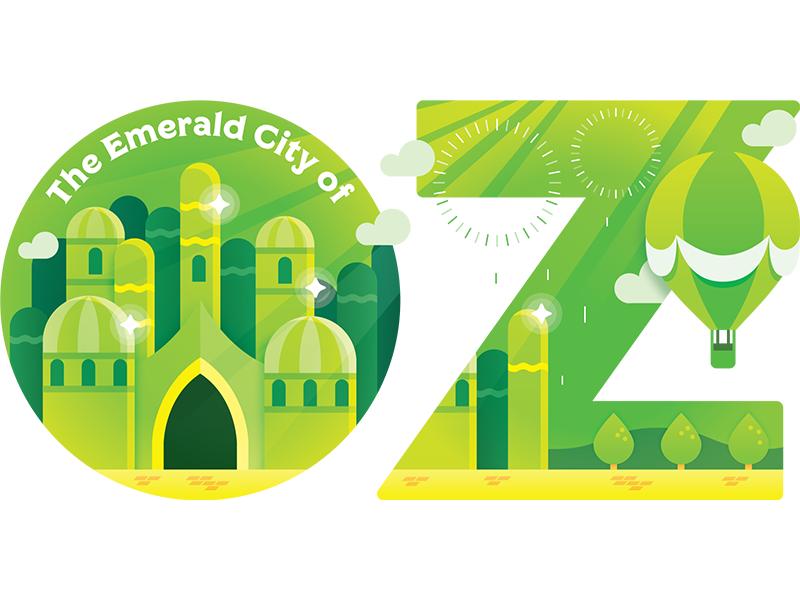Travel Sticker Emerald City Of Oz By Jason Custer On Dribbble