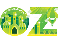 Travel Sticker - Emerald City of Oz