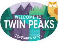 Travel Sticker - Twin Peaks