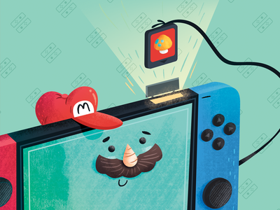 Nintendo Switch - Game videogames device cartoon inspiration illustration