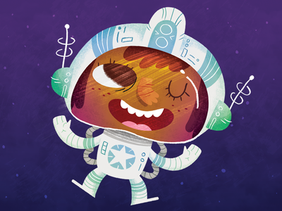 Adventurers - Space Girl texture sci fi space cartoon illustration