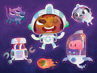 Adventurers - Space Stickers