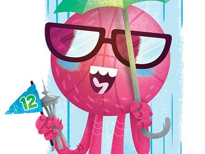 Seattle Dribbble Meetup - Sticker 2 tourist rain seattle dribbble basketball cartoon illustration