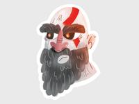 God of War - Kratos Sticker