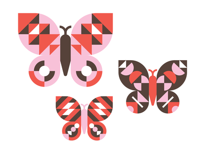 Springtime Butterflies sticker spring butterfly vector illustration