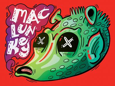 MACLUNKEY! death rattle illustration ipadpro procreate greedo star wars