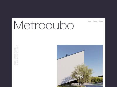 Metrocubo concept - sneak peek architecture branding website typography layout ui art direction design