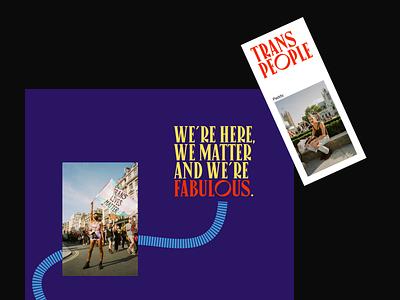 London's Trans+ Pride — art direction transpride minimal ui website layout typography art direction
