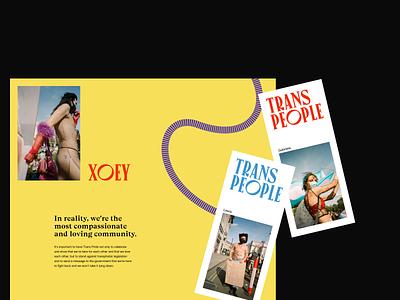 London's Trans+ Pride — art direction / pt2 transpride website typography layout art direction ui design