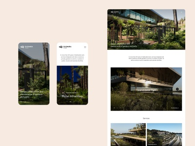 Dionaea Gardens Website redesign website typography layout art direction ui design