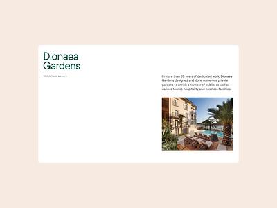 Dionaea Gardens Website redesign website typography layout art direction ui design