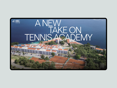 Ljubicic Tennis Academy website typography layout art direction design motion graphics graphic design ui