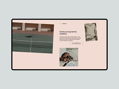 Ljubicic Tennis Academy website typography layout art direction ui design